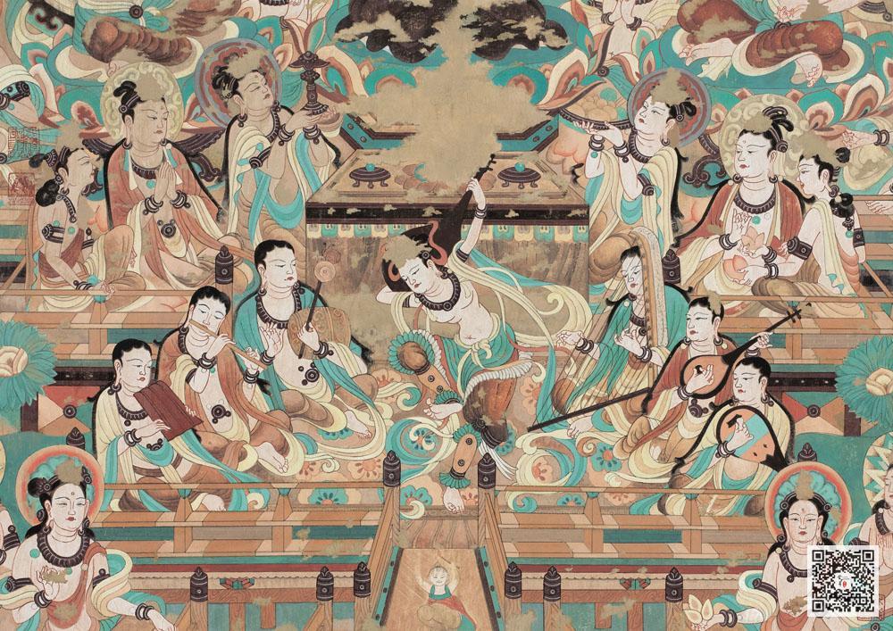 中国古典壁画敦煌壁画欣赏_博物馆壁画(10)图片