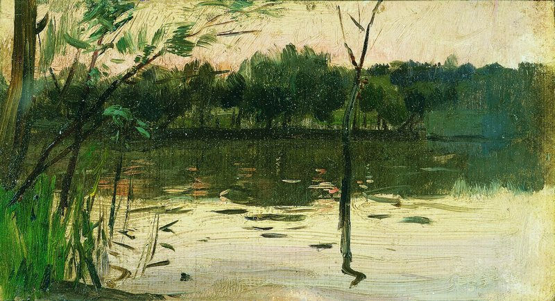 手绘风景油画壁画 素材