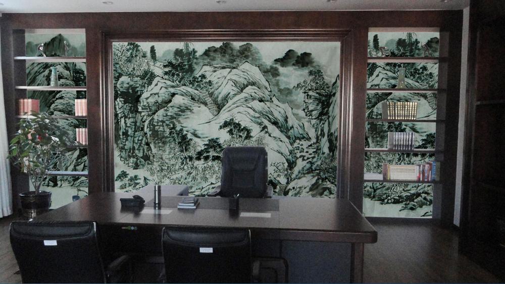 办公室壁画 - 金兰草手绘壁画公司